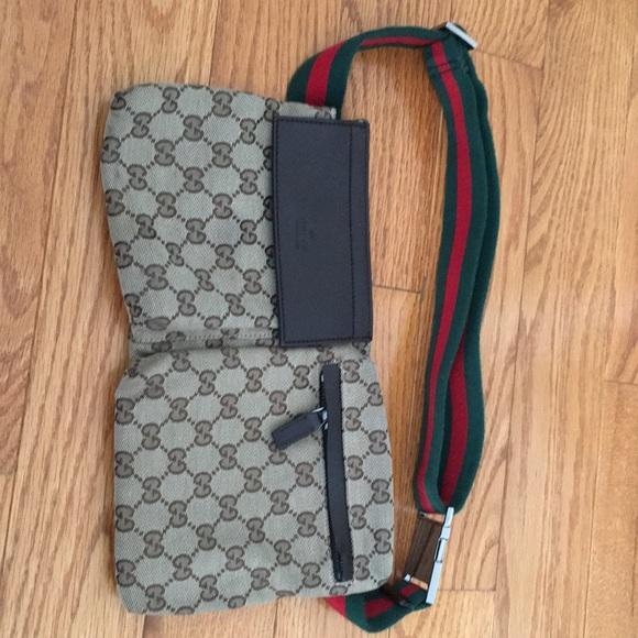 60616ccdad94 Gucci Bags | Vintage Gg Shelly Line Waist Bum Bag | Poshmark